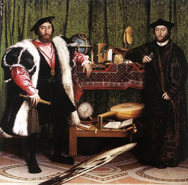 The Ambassadors - the history behind the painting of Holbein's The Ambassadors.