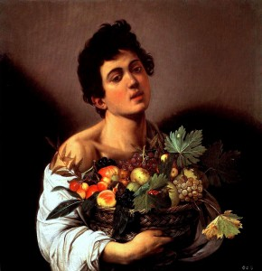 Caravaggio-Boy with Basket of Fruit