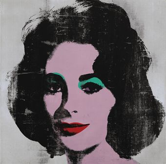 'Silver Liz' Pop Art Print goes for £6m