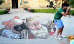 Dizzying effects of 3D Street Artist Eduardo Relero