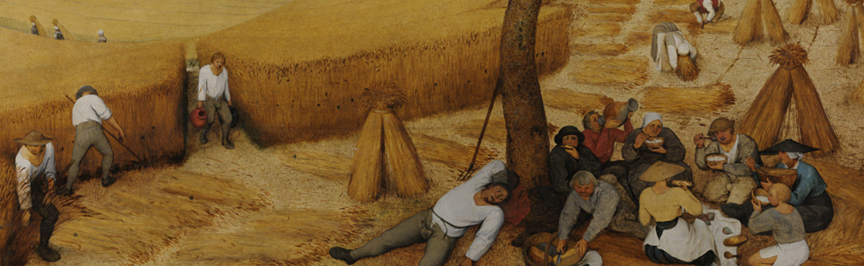 Rest for lunch for some... detail from The Harvesters
