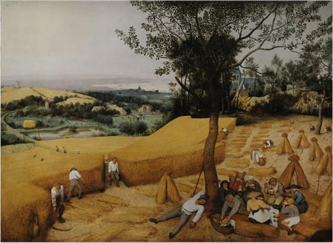 The Harvesters by Pieter Bruegel the elder, 1565